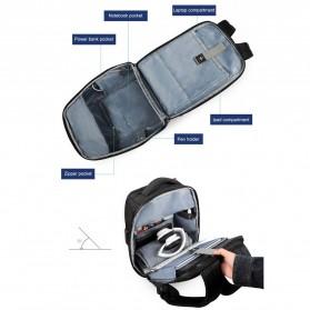 TIGERNU Tas Ransel Backpack RFID Protection dengan TSA Lock - T-B3655 - Black - 5
