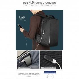 TIGERNU Tas Ransel Backpack RFID Protection dengan TSA Lock - T-B3655 - Black - 7