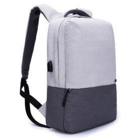 TINYAT Tas Ransel Laptop Anti Maling 15.6 inch dengan USB Charger - T810 - Gray - 2