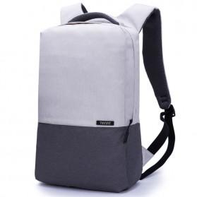 TINYAT Tas Ransel Laptop Anti Maling 15.6 inch dengan USB Charger - T810 - Gray - 3