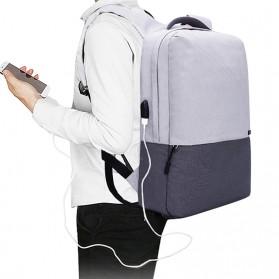 TINYAT Tas Ransel Laptop Anti Maling 15.6 inch dengan USB Charger - T810 - Gray - 6