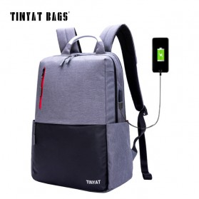 TINYAT Tas Ransel Backpack dengan USB Charger Port - T811 - Gray