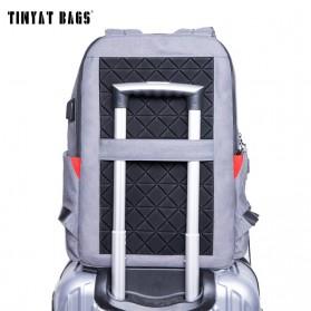 TINYAT Tas Ransel Backpack dengan USB Charger Port - T811 - Gray - 2