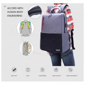 TINYAT Tas Ransel Backpack dengan USB Charger Port - T811 - Gray - 4