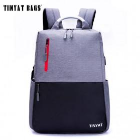 TINYAT Tas Ransel Backpack dengan USB Charger Port - T811 - Gray - 5
