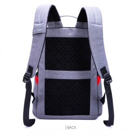 TINYAT Tas Ransel Backpack dengan USB Charger Port - T811 - Gray - 6