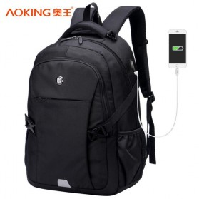 Notebook Bag / Tas Laptop - Aoking Tas Ransel Laptop 35L dengan USB Charger - SN77052-2B - Black