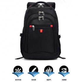 Aoking Tas Ransel Laptop 35L dengan USB Charger - SN77052-2B - Black - 5