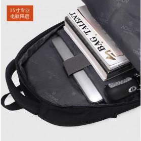 Aoking Tas Ransel Laptop 35L dengan USB Charger - SN77052-2B - Black - 8
