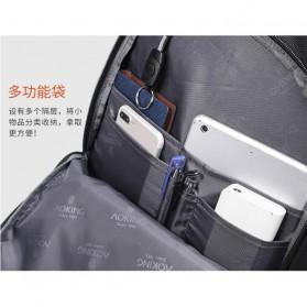 Aoking Tas Ransel Laptop 35L dengan USB Charger - SN77052-2B - Black - 9