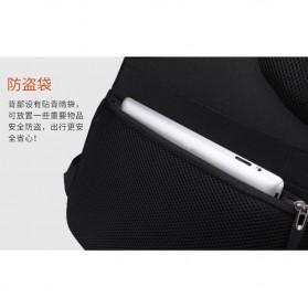 Aoking Tas Ransel Laptop 35L dengan USB Charger - SN77052-2B - Black - 10