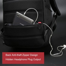 Kingsons Tas Ransel Laptop dengan USB Charger - Black - 3