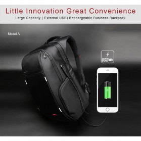 Kingsons Tas Ransel Laptop dengan USB Charger - Black - 6