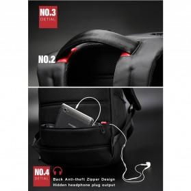 Kingsons Tas Ransel Laptop dengan USB Charger - Black - 7