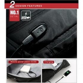 Kingsons Tas Ransel Laptop dengan USB Charger - Black - 9