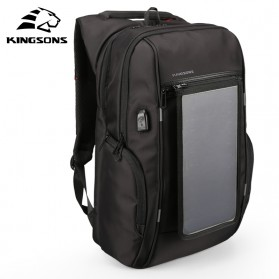 Kingsons Tas Ransel Solar Panel dengan USB Port - KS3140W-I - Black - 2