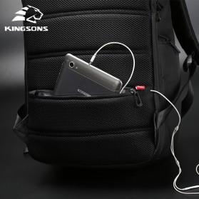 Kingsons Tas Ransel Solar Panel dengan USB Port - KS3140W-I - Black - 6