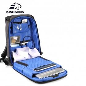 Kingsons Tas Ransel Backpack Anti Maling Laptop Slot 15 Inch with USB Port - KS3149W - Dark Gray - 2