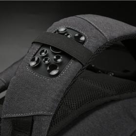 Kingsons Tas Ransel Backpack Anti Maling Laptop Slot 15 Inch with USB Port - KS3149W - Dark Gray - 6