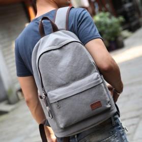 MUZEE Tas Ransel Backpack Casual dengan USB Port - ME-0710 (backup) - Gray - 2
