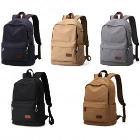 MUZEE Tas Ransel Backpack Casual dengan USB Port - ME-0710 (backup) - Gray - 7