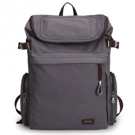 Laptop / Notebook - MUZEE Tas Ransel Backpack Travel dengan USB Port - ME-1181 - Gray