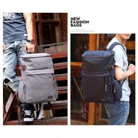 MUZEE Tas Ransel Backpack Travel dengan USB Port - ME-1181 - Gray - 7