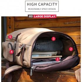 MUZEE Tas Ransel Backpack Travel dengan USB Port - ME-1181 - Coffee - 2