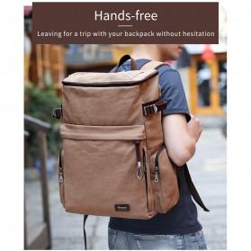 MUZEE Tas Ransel Backpack Travel dengan USB Port - ME-1181 - Coffee - 5