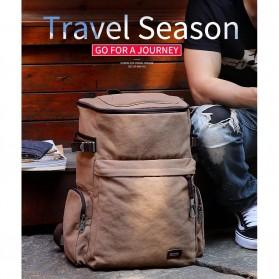 MUZEE Tas Ransel Backpack Travel dengan USB Port - ME-1181 - Coffee - 9