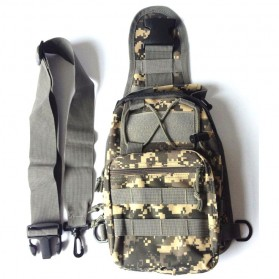 Tas Selempang Outdoor Military Tactical Duffel Backpack - Black - 5