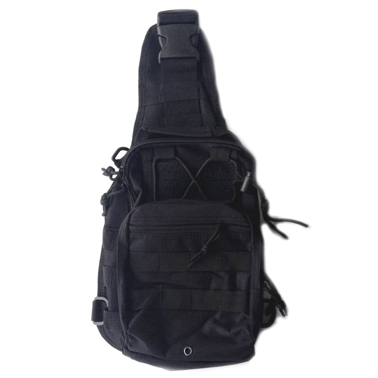 Tas Selempang Outdoor Military Tactical Duffel Backpack - Black - 1