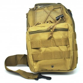 Tas Selempang Outdoor Military Tactical Duffel Backpack - Brown