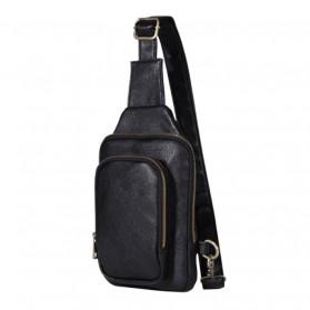 Morrysalee Tas Selempang Crossbody Bag Bahan Kulit Premium - K0117 - Black