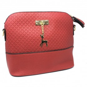 Tas Selempang Wanita Deer Leather Bags - Red