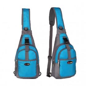 Tas Selempang Crossbody Bag Sport Waterproof - 5740 - Black - 3