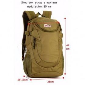 KAM Tas Ransel Backpack Desain Militer 25L - S4010 - Black - 3