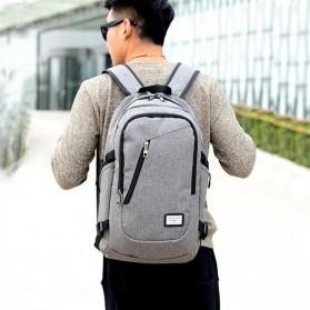DXYIZU Tas Ransel dengan USB Charger Port - Black - 3
