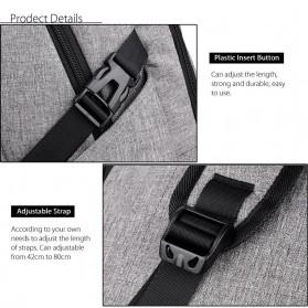 DXYIZU Tas Ransel dengan USB Charger Port - Black - 6