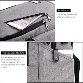 DXYIZU Tas Ransel dengan USB Charger Port - Black - 7