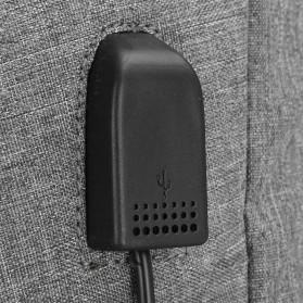 DXYIZU Tas Ransel dengan USB Charger Port - Black - 9