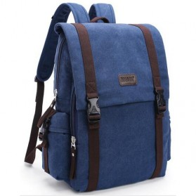 Tas Ransel Backpack Canvas - Dark Blue
