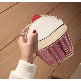 Tas Selempang Wanita 3D Cartoon Bag - Model Pop Corn - Multi-Color - 6