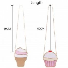 Tas Selempang Wanita 3D Cartoon Bag - Model Pop Corn - Multi-Color - 8