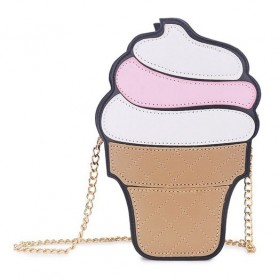 Tas Selempang 3D Cartoon Bag - Model Ice Cream - Multi-Color