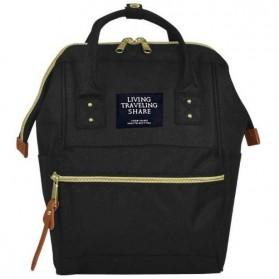 Notebook Bag / Tas Laptop - Anello Tas Ransel Canvas Vintage (OEM) - Black Gold