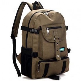 Dongnuo Tas Ransel Backpack Multi Slot - Khaki