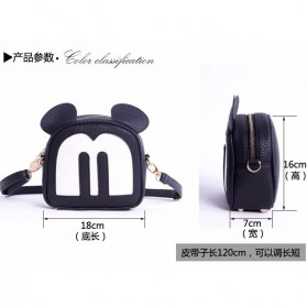 Tas Selempang Wanita Model Mickey Mouse - Black - 5
