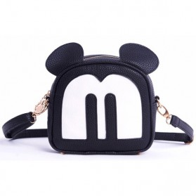 Tas Selempang Wanita Model Mickey Mouse - Black - 7