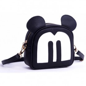 Tas Selempang Wanita Model Mickey Mouse - Black - 8